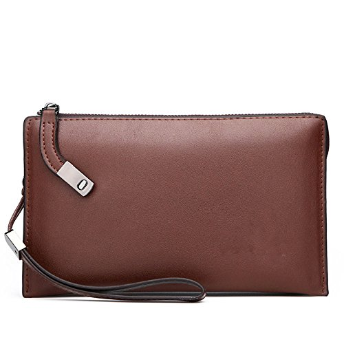 Zgjq Bag European And American Fashion Bag Briefcase Business Bag Leisure Phone Package Clutch Bag Men Brown