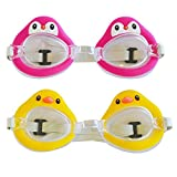 2 Pack Girls Swim Swimming Pool Goggles for Kids, Swimming Accessories Gear Gifts Set for Children Kids Girls