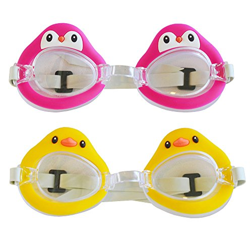 2 Pack Girls Swim Swimming Pool Goggles for Kids, Swimming Accessories Gear Gifts Set for Children Kids - Goggles For Images Girl