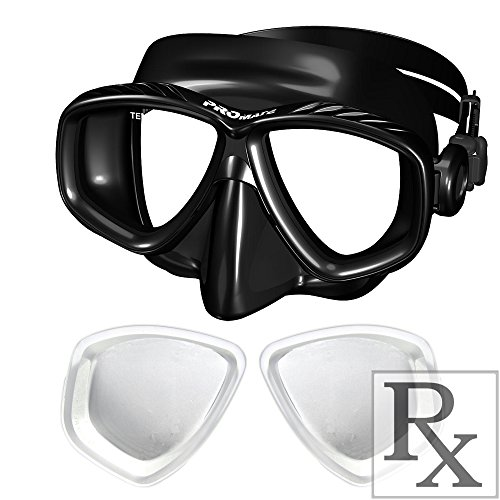 Promate Different Nearsight Optical Corrective Lenses on Each Side Snorkel Mask, AB