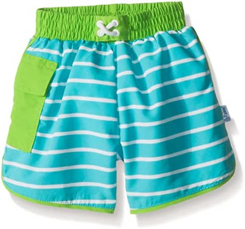 i play. Baby & Toddler Boys' Striped Pocket Trunks with Built-In Swim Diaper