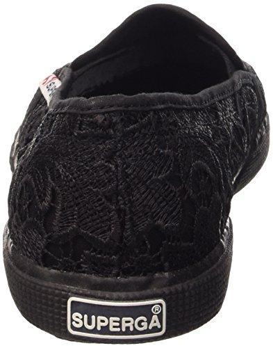Superga macramé Full Black Donna Slip 2210 on pr7WHUwRpq