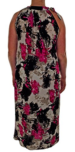 Spray With Fuchsia Maxi Dress Womens Summer Floral Pattern AFC Plus amp; Size Black nx8qI67