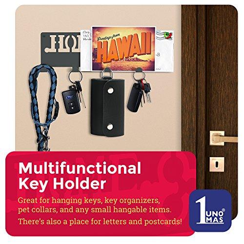 Decorative Wall Key Holder | Modern Key With 4 Hooks | Keyring Holder | Hanging Coat Key Rack with Hooks Photo #2
