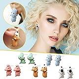 Cute Biting Ear Studs, 3D Dinosaur Bite Earrings