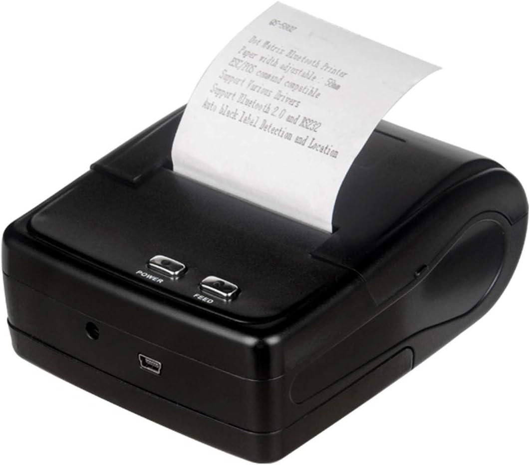 Impresora portátil Impresora, QS-5802 58mm Bluetooth portátil de ...