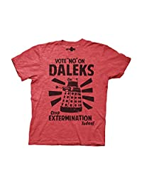 Ripple Junction Doctor Who Vote No On Daleks Adult T-Shirt
