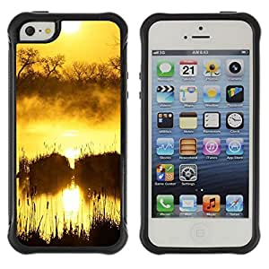 "Hypernova Defender Series TPU protection Cas Case Coque pour Apple iPhone SE / iPhone 5 / iPhone 5S [Sunset Beautiful Nature 50""]"