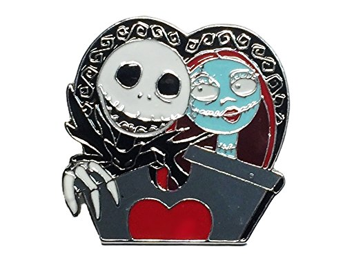 [Nightmare Before Christmas Jack & Sally Metal/ Enamel PIN] (Sally A Nightmare Before Christmas Costumes)