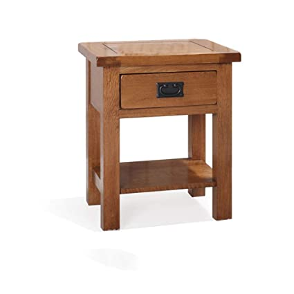 Winsome Eugene Accent Table Single Drawer Closed Cabinet Brown Walnut Finish