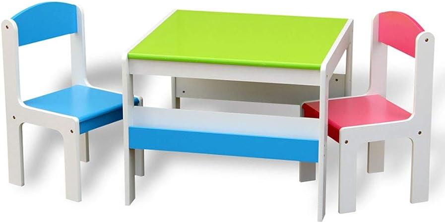 juego de mesa y silla para niños, Escritorio de jardín de Infantes/Mesa de Estudio, Mesa de Juguetes para bebés, combinación de Mesa y Silla para Comer en casa: Amazon.es: Hogar