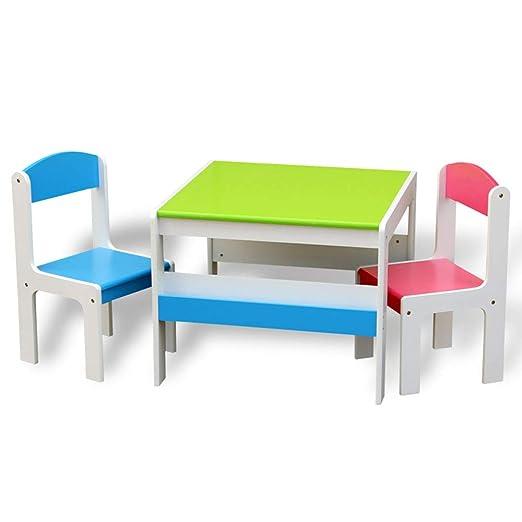 juego de mesa y silla para niños, Escritorio de jardín de Infantes ...