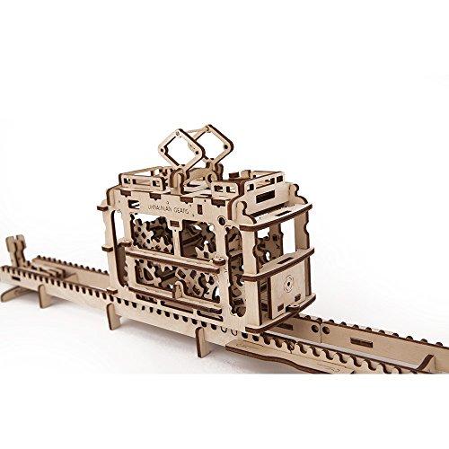 Ugears 70008 - Tram Straßenbahn, 3D-Holzbausatz ohne Klebstoff