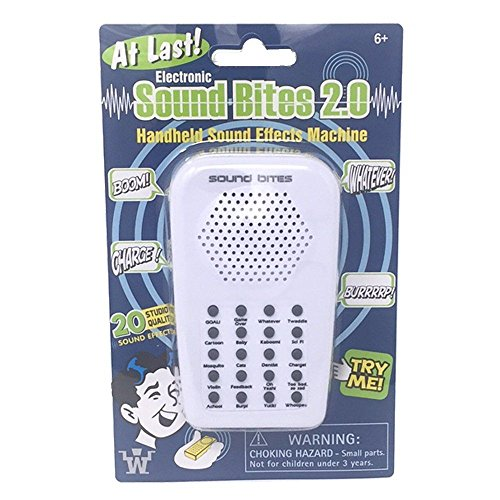 Westminster Electronic Sound Bites 2.0, Handheld Sound Effect Machine, White