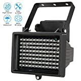 KKmoon 96 LED Indoor/Outdoor Long Range 33-60ft IR Illuminator Night Vision Waterproof For CCTV Security Camera