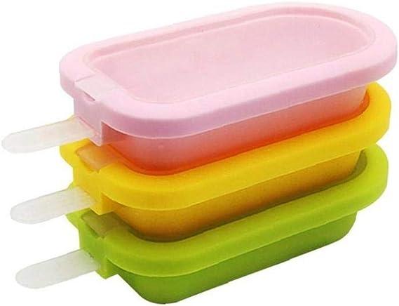 Reutilizable Popsicle Moldes De Silicona Suave Hecho a Mano De Ice Cream Pop Molde Classic Mini Linda DIY Helado Moldes Fabricante De Color Al Azar 1pc: Amazon.es: Hogar