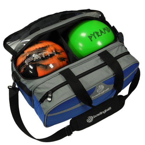 Path Double Tote Plus Clear Top Bowling Bag (Royal Blue/Silver)