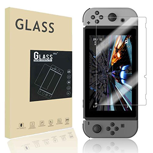 Price comparison product image 9H Hardness Premium Tempered Glass Screen Protector for Nintendo Switch NS 2107, 1 Pack