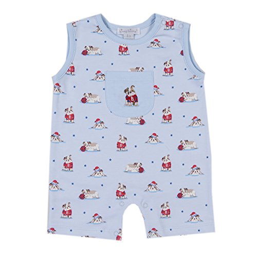 Kissy Kissy Baby-Boys Infant Burly Bulldogs Print Sleeveless Short Playsuit