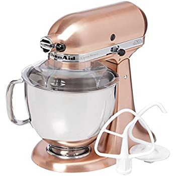 Amazon.com: KitchenAid KSM152PSCP Satin Copper 5-quart Custom ... on copper disney, copper canisters at walmart, copper keurig, copper flatware,