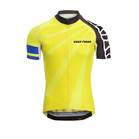 d5340f7cf Image Unavailable. Image not available for. Color  Uglyfrog 2018 Mens Short  Sleeve Breathable Cycling Jersey Outdoor Sports Summer ...