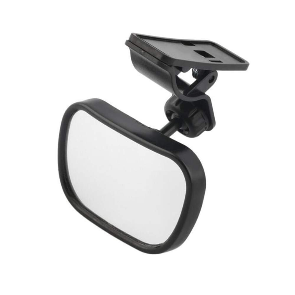 AISIBO Baby Car Mirror, Monitor Infant Child Mirror for Rear Facing Car Seat with Wide Clear View - Safety Shatterproof Rearview Mirror Adjustable Acrylic 360° for Back Seat(Black) by AISIBO