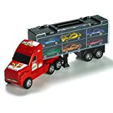 """15"""" Carrier Truck Toy Car Transporter Includes 6 Metal Cars Toy For Boys Great Christmas Gift For Boys"""