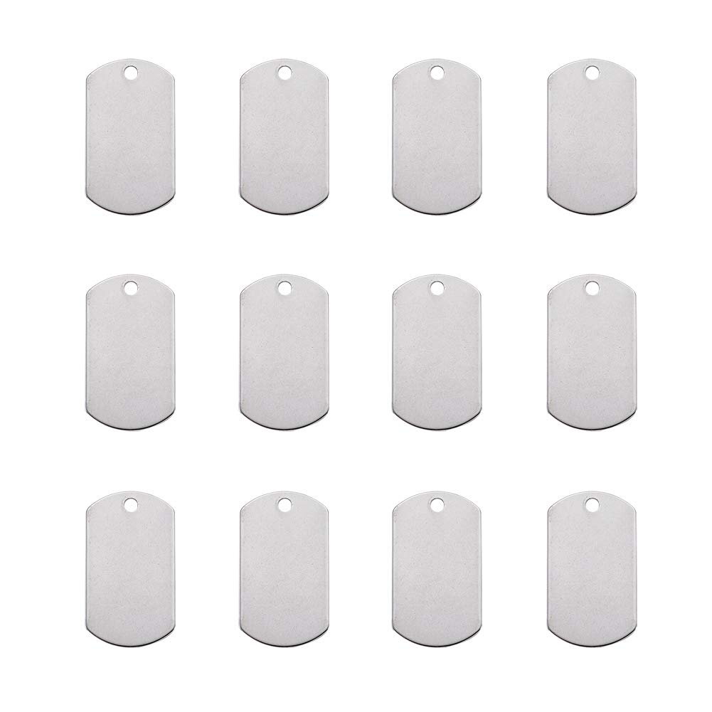 Pandahall 10pcs 0.51 Inch 304 Stainless Steel Blank Stamping Tag Pendants Flat Round 13x1mm for DIY Jewelry Making
