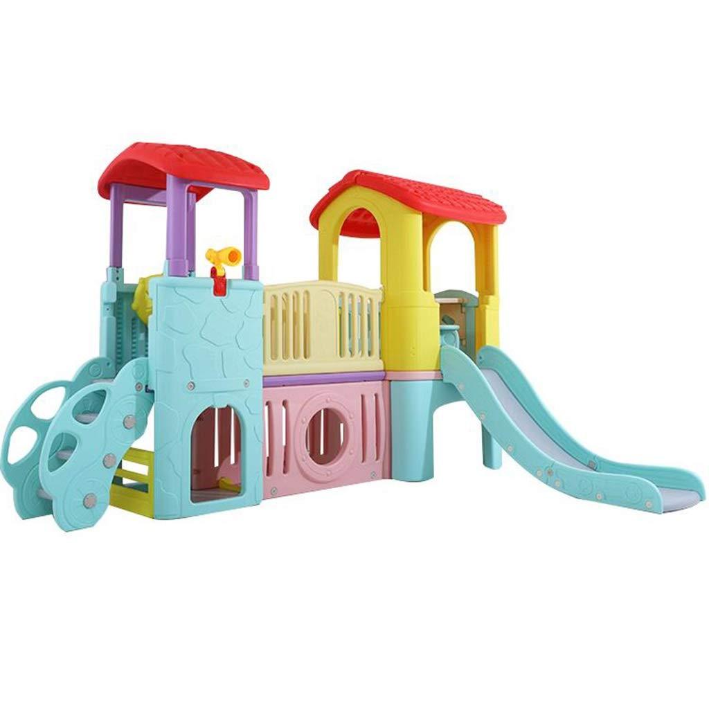 LLRDIAN Kinderhauskinder der Schlossrutsche-Kindergartenkinder spielt große Plastikdia (Farbe   A) A