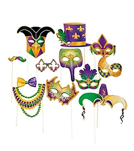 Mardi Gras Costume Props 4E's Novelty + Bonus (Mardi Gras Pictures Costumes)