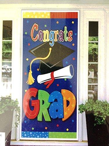 Congrats Grad Giant Graduation Door Cover Banner 30