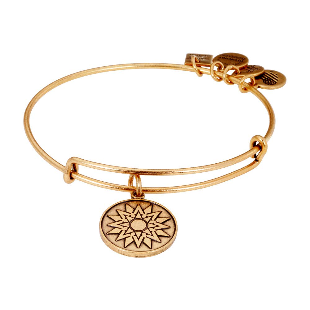 Alex and Ani Women's Charity by Design New Beginnings Charm Bangle Rafaelian Gold Finish One Size