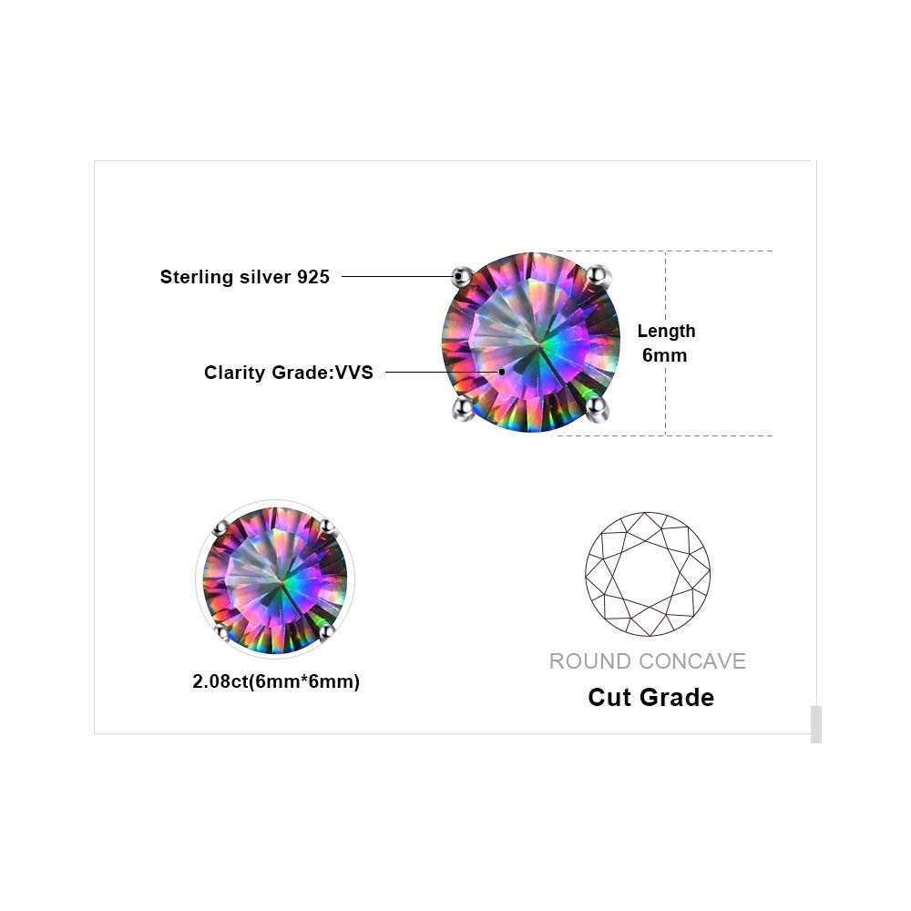 Earrings Stud For Girls Genuine Pure Solid 925 Sterling Silver Round Brand Fashion