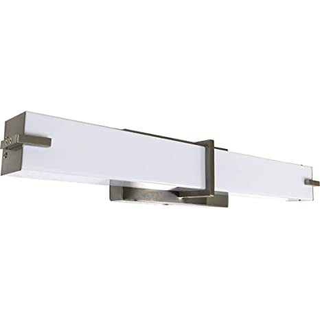 New squared modern frosted bathroom vanity light fixture new squared modern frosted bathroom vanity light fixture contemporary sleek dimmable led rectangular bar design aloadofball Choice Image