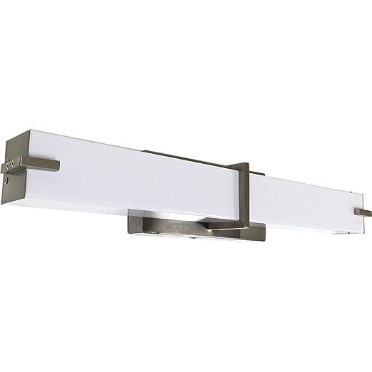 Amazon.com: Lámpara de baño esmerilada moderna cuadrada para ...
