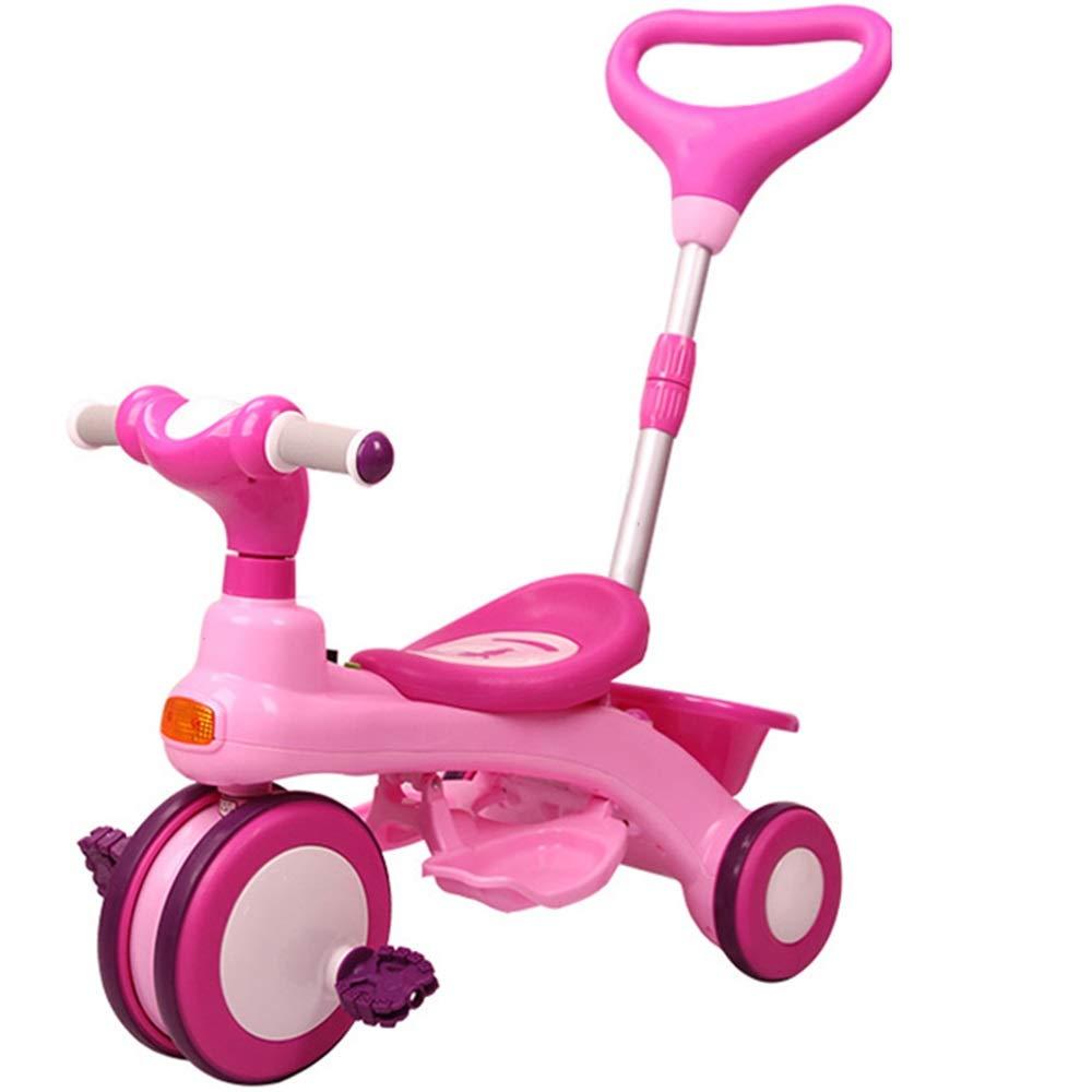 【期間限定特価】 Axdwfd 子ども用自転車 子供三輪車子供ペダル自転車1-5歳 Axdwfd、ベビーカー男の子女の子のおもちゃの車の重量25kg(青 B07Q172K9J ピンク、ピンク) ピンク B07Q172K9J, バラエティーミート アサヒ:e166afc5 --- senas.4x4.lt