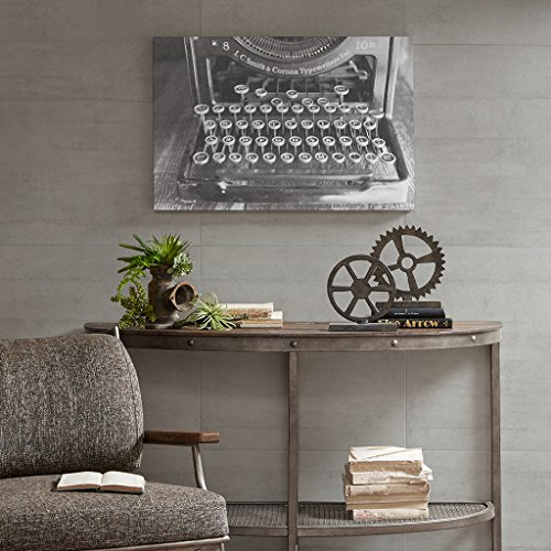 Picture Framed Vintage (Ink+Ivy Vintage Typewriter Inspirational White Black Canvas Wall Art 30X20, Vintage Industrial Wall Décor)