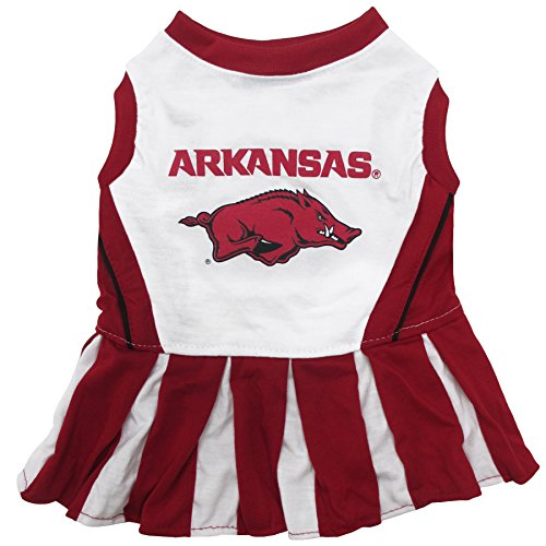 NCAA Arkansas Razorbacks Dog Cheerleader Outfit, Small