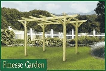 MARLBOROUGH Garden Timber Pergola, Arbour Kit 8ft x 8ft x 8ft