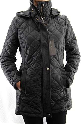 Marc New York by Andrew Marc Women's Fay Mixed Box-Quilt Jacket (Medium, Black)