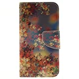 Samsung Galaxy S7 Case [With Tempered Glass Screen Protector],idatog(TM) Magnetic Flip Book Style Cover Case ,High Quality Classic Colorful Cool Pattern Design Premium PU Leather Folding Wallet Case With [Credit Card Slots] Stand Function Folio Protective Holder Perfect Fit For Samsung Galaxy S7(Colorful Flowers)