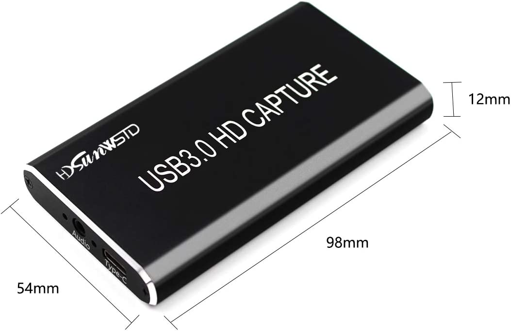 1080p@60fps Grabber Type-C//USB 3.0 Capture HDMI USB 3.0 Video Capture for Windows /& Mac OS. for Xbox,PS4 Switch,DSLR,Camcorders Stream Live Game /& Video HDMI Capture Device
