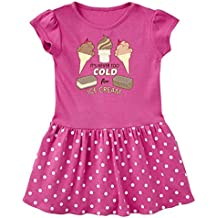 inktastic Never Too Cold For Ice Cream Toddler Dress