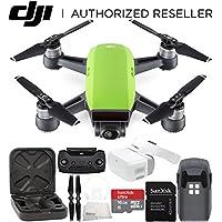 DJI Spark Portable Mini Drone Quadcopter + DJI Goggles Virtual Reality VR FPV POV Experience Starters Bundle (Meadow Green)
