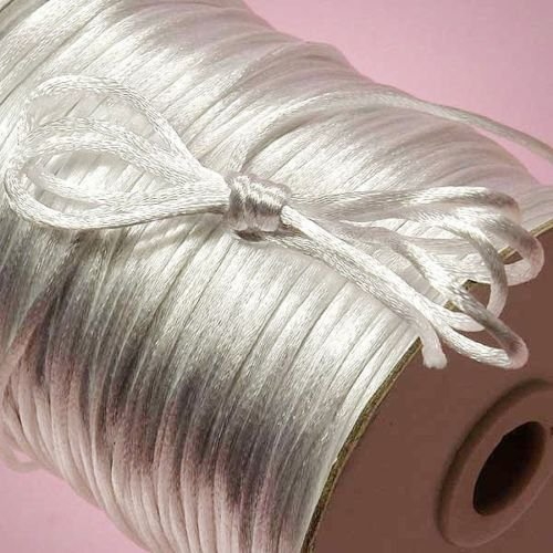 2 Mm Nylon Satin (Ben Collection 2mm X 100 Yard Rattail Satin Nylon Trim Cord Chinese Knot (White))
