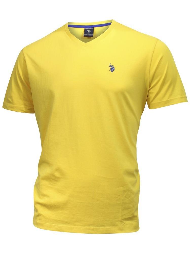 Men's U.S. Polo Assn. Basic V-Neck Tee S Cape Yellow