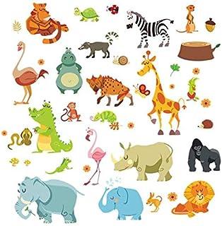 Upxiang est Animals Elephant Squirrel Kidergarten Wall Stickers Kids Room Bedroom For Home Office Holiday Classroom Wedding Bedroom Parties