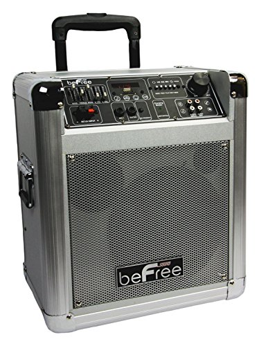 beFree Sound BFS-4505 Sleek Professional Portable Bluetooth PA Speaker with Remote Control, Microphone, FM Radio, SD and USB Inputs