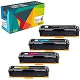 Do it Wiser Compatible for HP 201A 201X CF400X CF400A Toner Cartridge HP M277dw M252dw HP Color Laserjet Pro MFP M277dw M277n M277c6 M277 M252 M252n M252dw Printer CF400X CF401X CF402X CF403X (4-Pack)