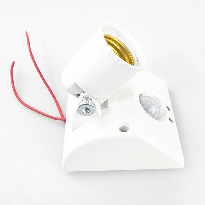 MagiDeal Interruptor de Luz de Sensor de Movimiento Lámpara Titular Infrarrojo Cuerpo Base Universal: Amazon.es: Bricolaje y herramientas